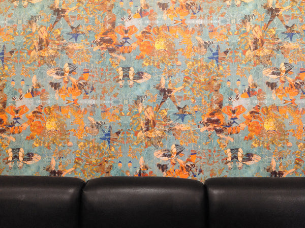 original abstract patterned wallpaper