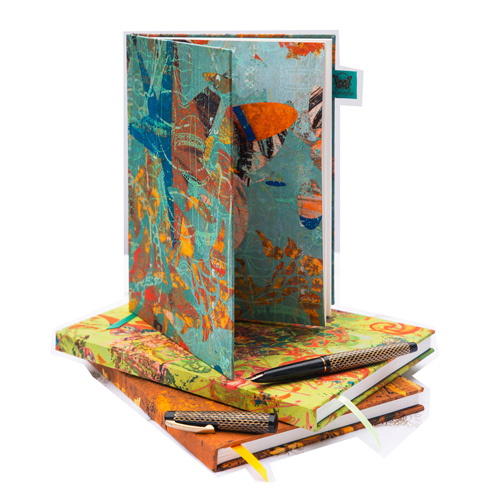 Silk Journals, lux notebooks, each silk cover slightly different, yours is the only one!