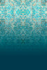 Blue Teal designer wallpaper