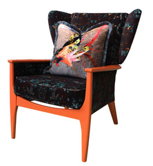 Mid Century wingback armchairs for sale uk - Monk