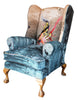 Statement Wing Back arm chairs uk, Blackpop uk, Bespoke fabric designs uk, the best textile designers uk