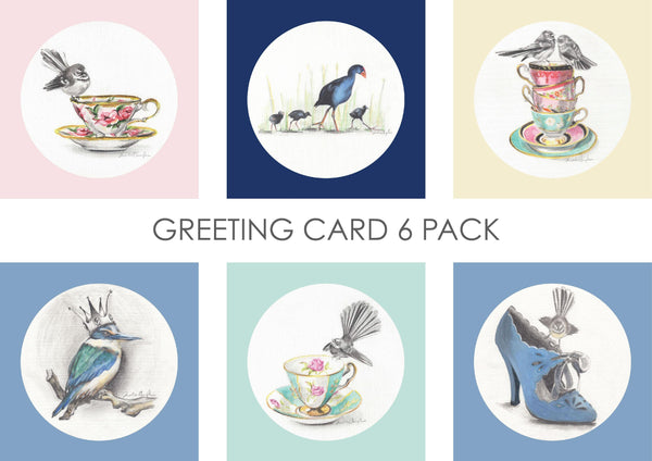 Greeting Card Six Pack - Birds - Melissa Sharplin