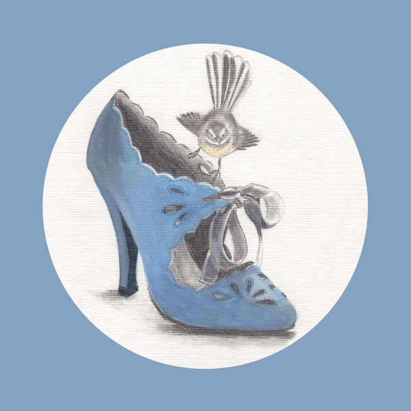 Blue Shoe Greeting Card