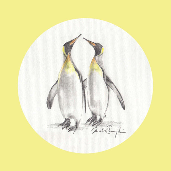 Emperor Penguins Greeting Card - Melissa Sharplin