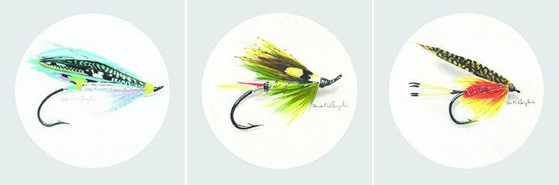 Set of 3 Framed Fishing Flies - Melissa Sharplin