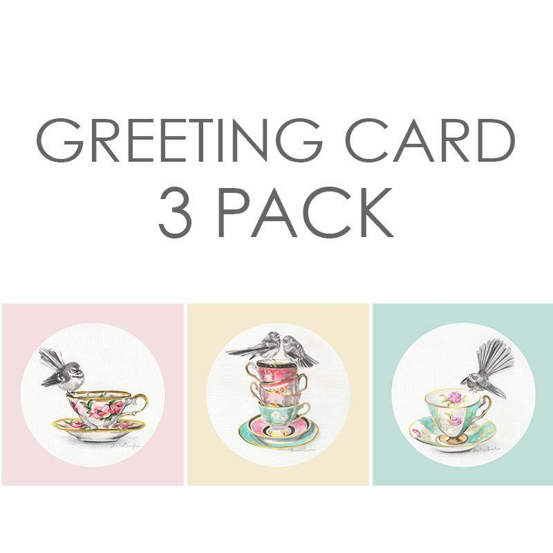 Greeting Card Three Pack  - Fantails