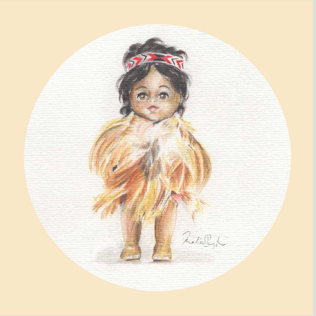 Greeting Card Three Pack  - Maori Dolls