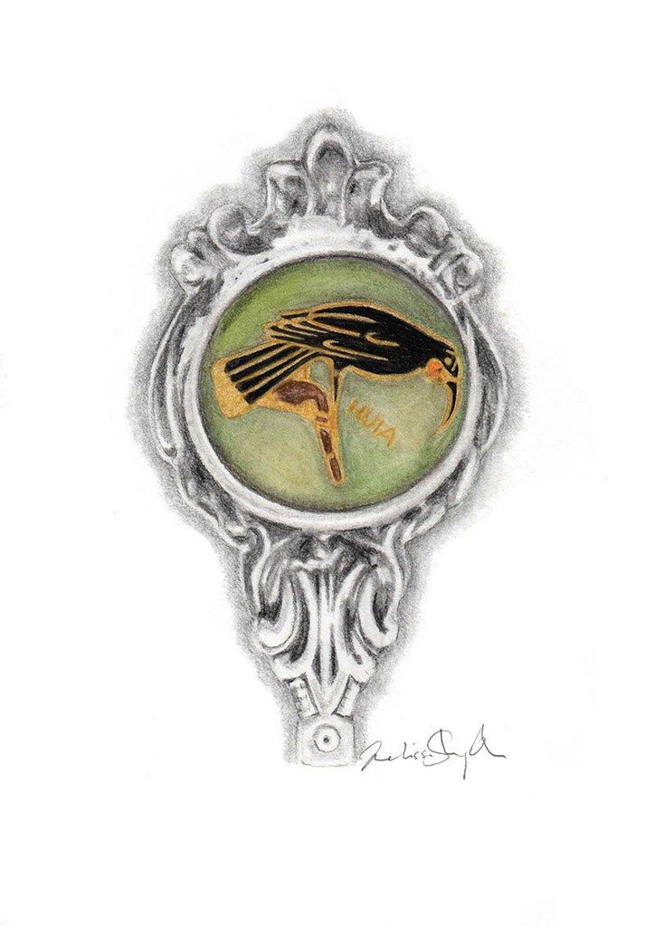 Vintage Huia Spoon - Original Drawing