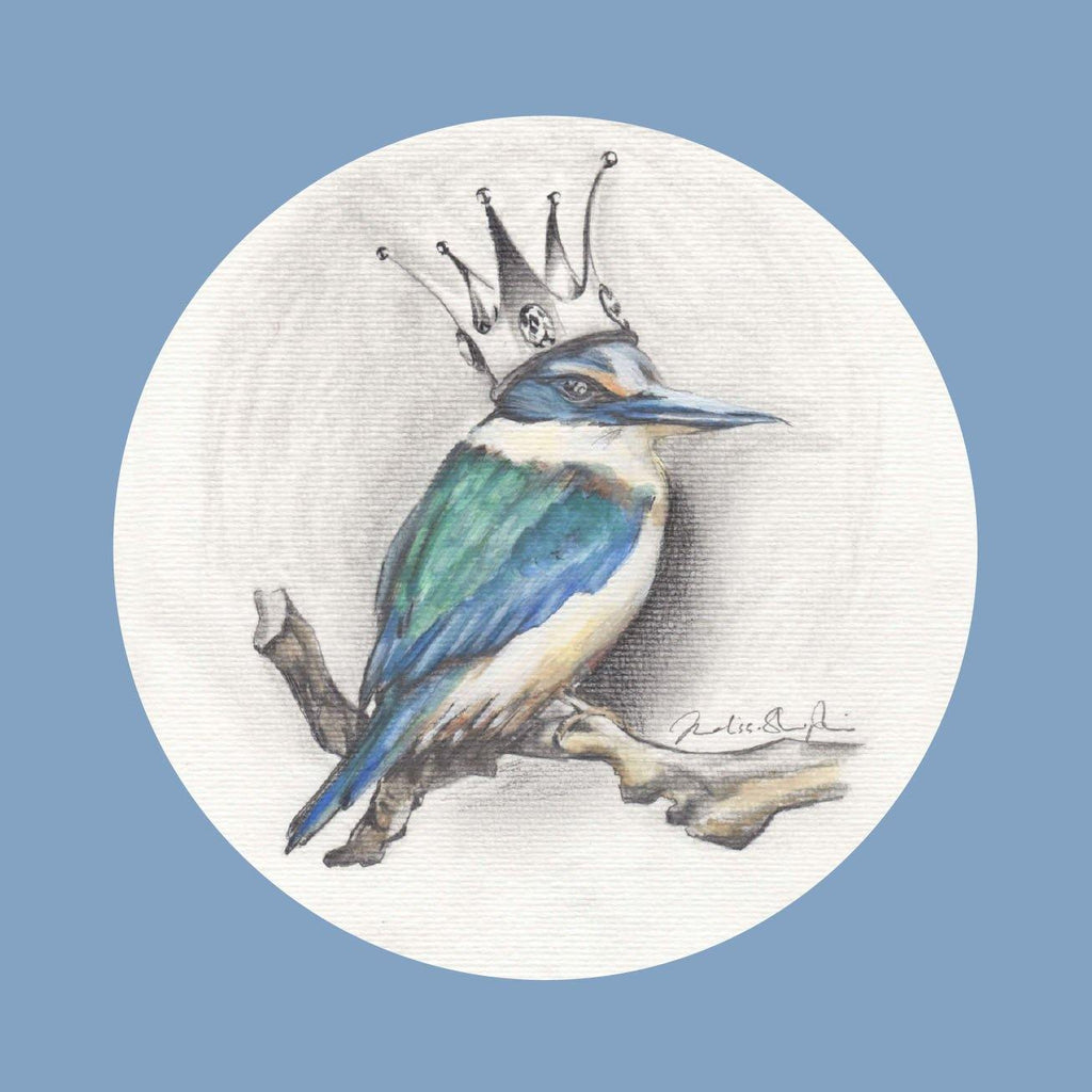 Kingfisher Blue Greeting Card - Melissa Sharplin