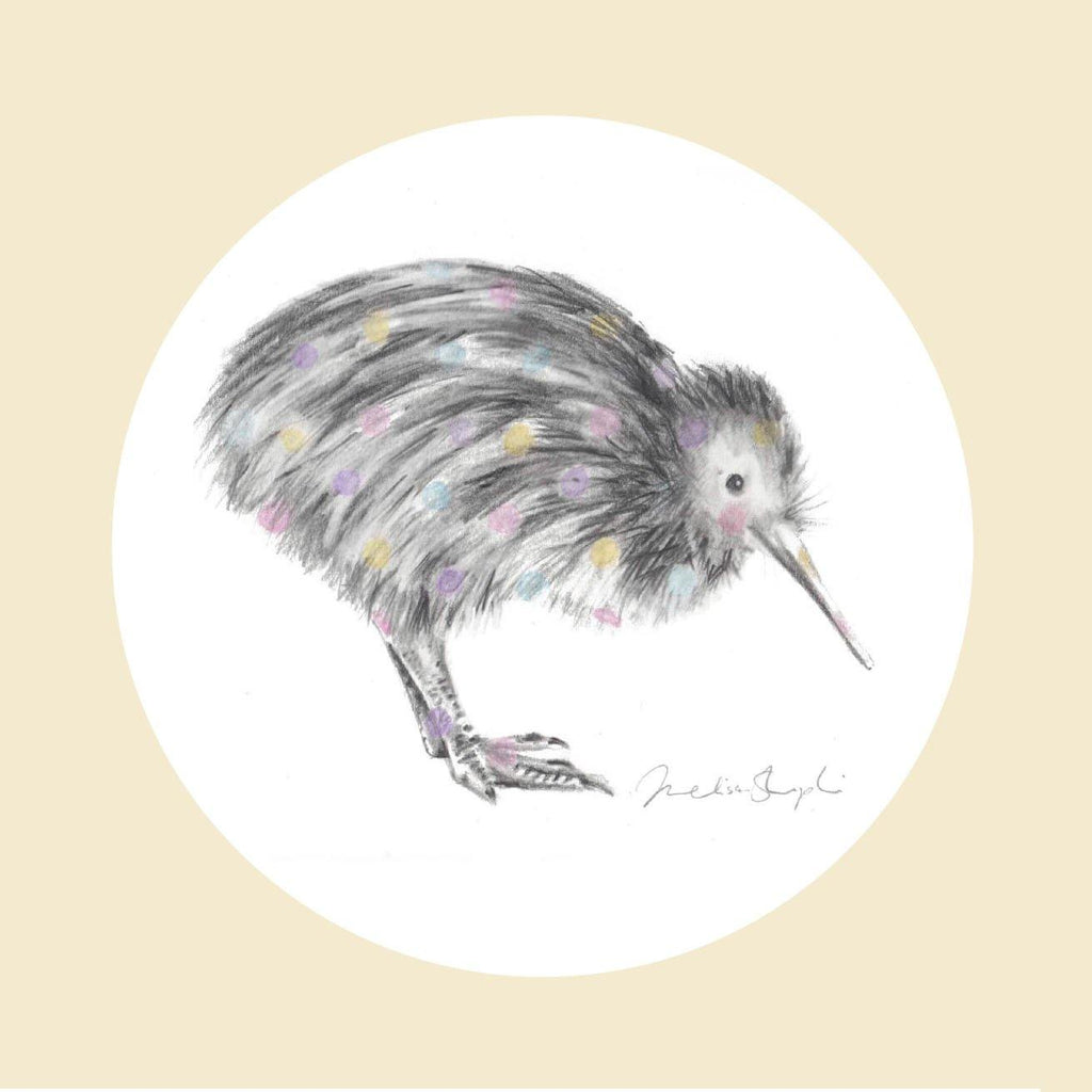 Little Spotted Kiwi Natural Greeting Card