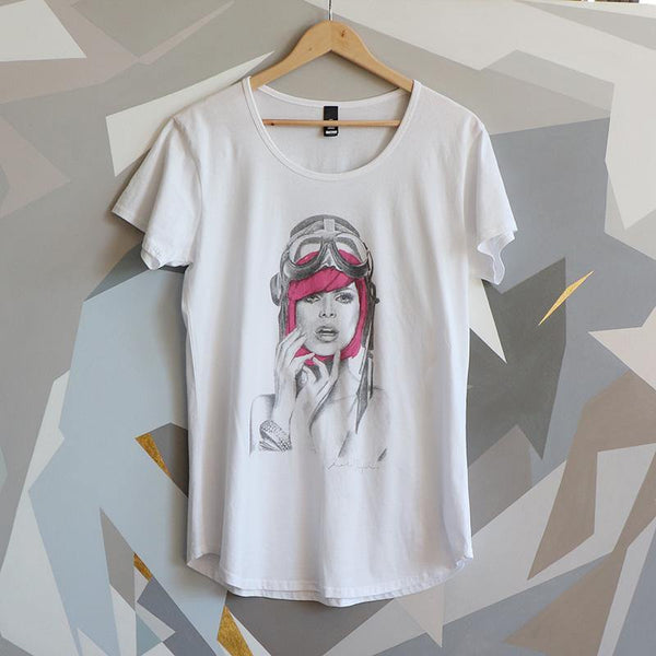 Miss Aviator Limited Edition Berry POP - XL Mali Women's T Shirt - Melissa Sharplin