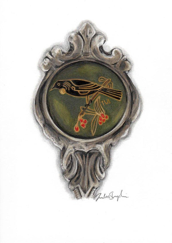 Vintage Tui Spoon - Original Drawing