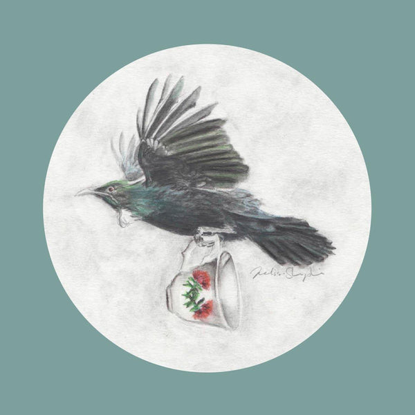 Tui and Teacup Greeting Card