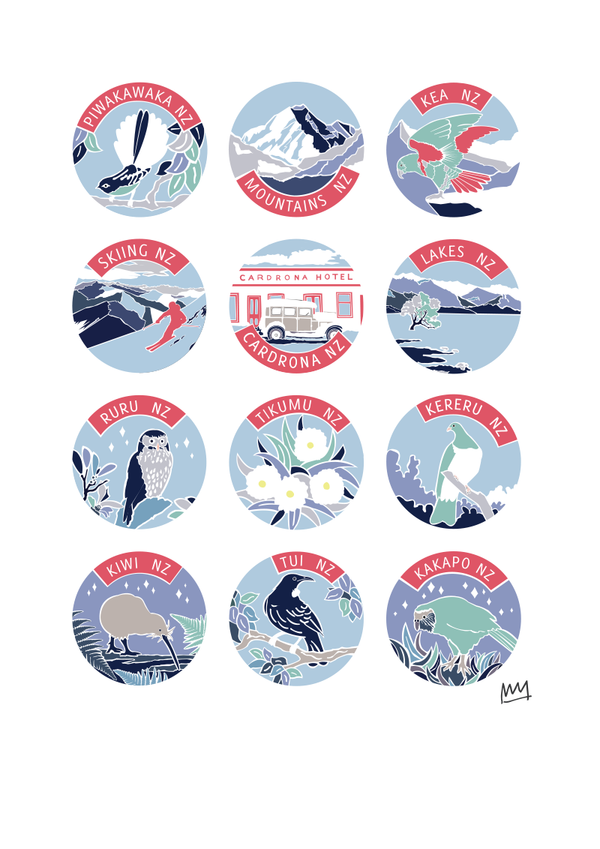 NZ POSTER - WINTER PALETTE - Melissa Sharplin