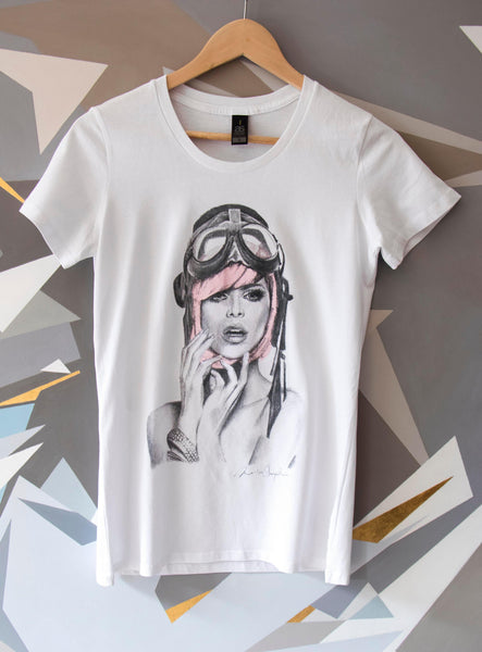 Womens, Miss Aviator T.shirt