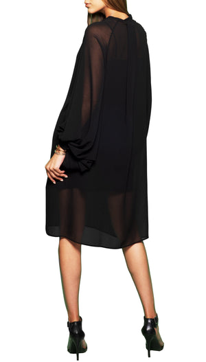 Loose Fit Billowy Sleeves Dress
