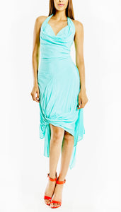 Halterneck bamboo cotton dress