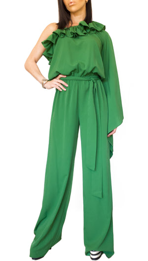One Shoulder Long Jumpsuit