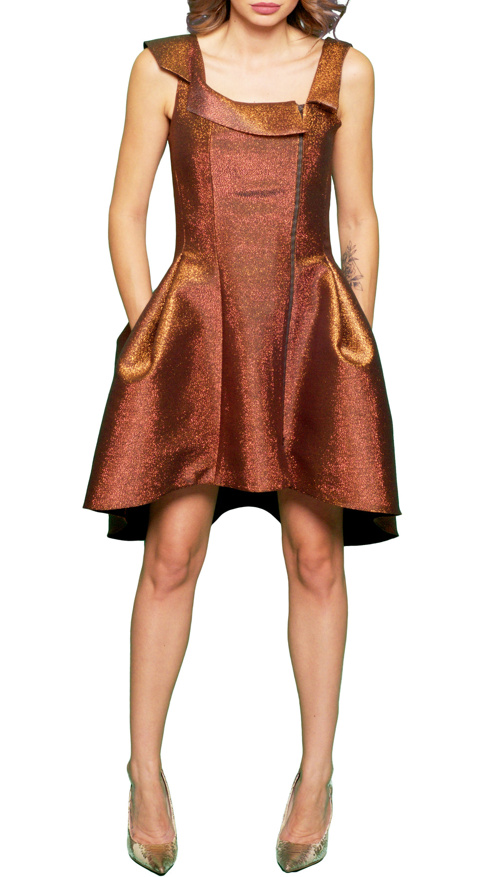 Golden Finish Dress