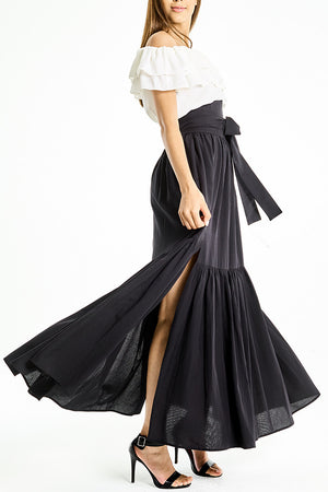 Skirt Long High-Waist with Layers