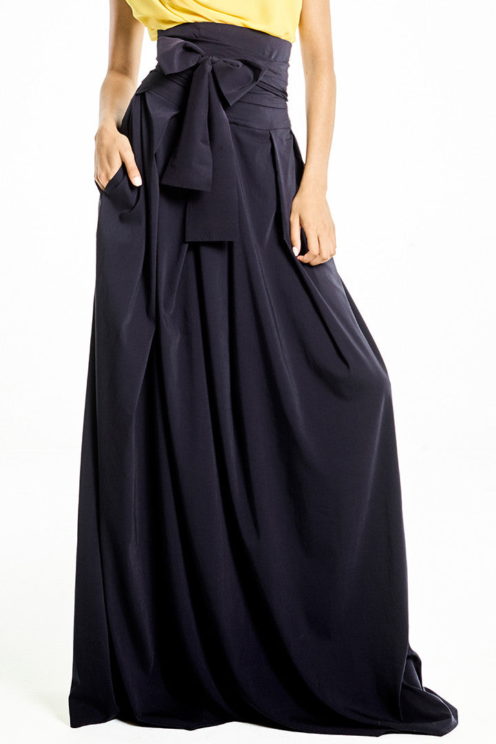 High-Waisted Long Skirt