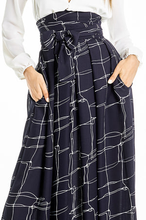 High-Waisted Long Skirt Print