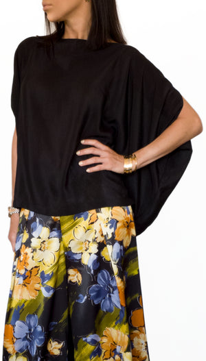 Silk-satin Loose Fit Blouse