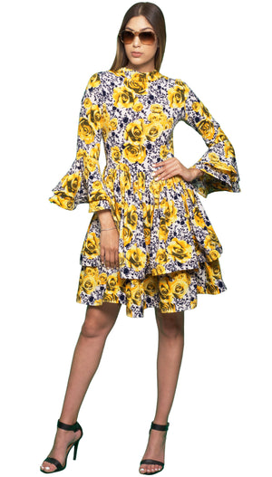 Stretch-chiffon Floral Print Dress