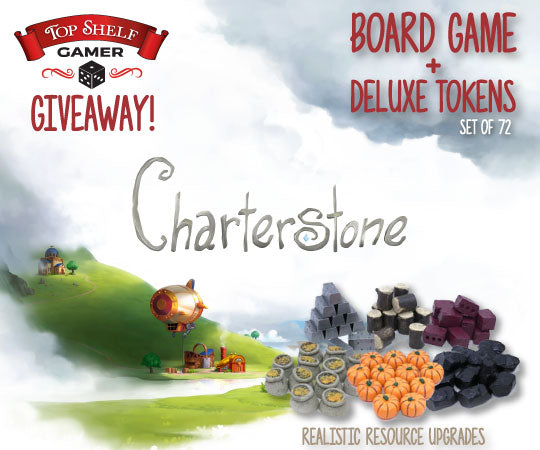 Charterstone Giveaway (Board Game + Token Set) - Top Shelf Gamer