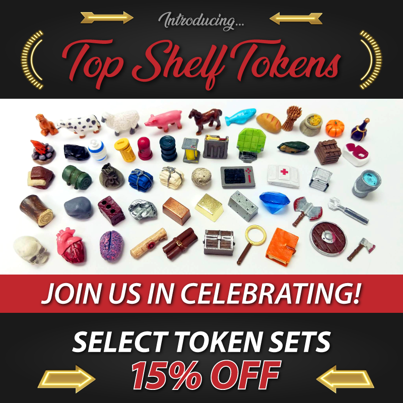 Top Shelf Gamer 15% OFF Select Tokens