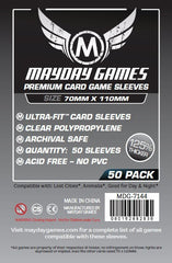 PREMIUM Mayday Ultra-Fit Card Sleeves: 70 x 110mm (set of 50) - Top Shelf Gamer