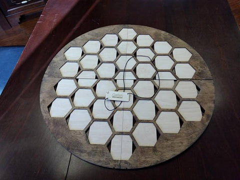 37 Tile Walnut Stained Game Board compatible with 6 Players Catan: Seafarers