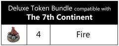 The 7th Continent™ compatible Deluxe Token Bundle (set of 4)