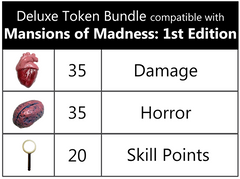 Mansions of Madness™ (1st edition) compatible Deluxe Token Bundle (set of 90)