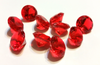 Red Gems - Acrylic (set of 10)