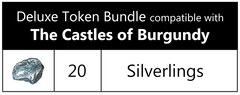 The Castles of Burgundy™ compatible Deluxe Token Bundle (set of 20)
