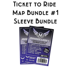 Card Sleeve Bundle: Ticket to Ride™, Map Bundle #1