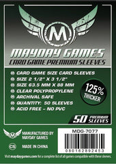 PREMIUM Mayday Card Sleeves: 63.5 x 88mm (set of 50) - Top Shelf Gamer