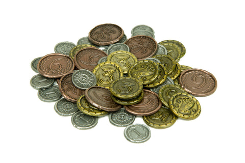 Full Set of Metal Coins Compatible with 7 Wonders™ (set of 80)
