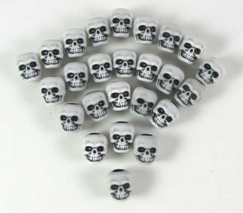 White Skull Counters (set of 25)