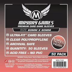 PREMIUM Mayday Square Card Sleeves: 80 x 80mm (set of 50) - Top Shelf Gamer