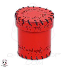 Elven Leather Dice Cup - Red - Top Shelf Gamer