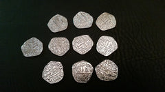 Common Metal Coins - Shiny Silver (set of 10) - Top Shelf Gamer