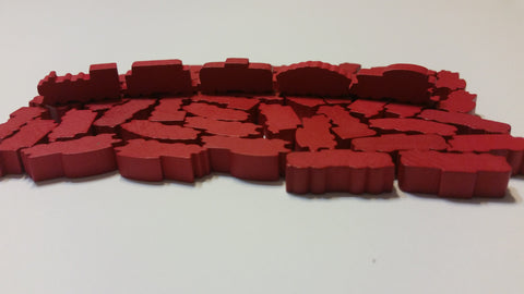 Red Train Set (set of 50)