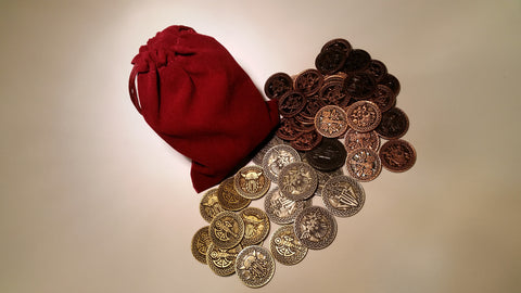 Valkyrie Coin Set in a Burgundy Bag (set of 50)