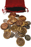 Metal Coins Compatible with 7 Wonders Duel (set of 31)