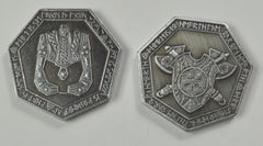 Dwarven Silver Coins (set of 10) - Top Shelf Gamer