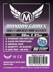 PREMIUM Mayday 63.5 x 88mm Violet Backed Card Sleeves (set of 80) - Top Shelf Gamer