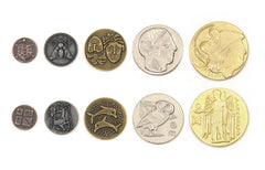 Metal Coins : Ancient Greek (set of 60) [clearance] - Top Shelf Gamer - 1