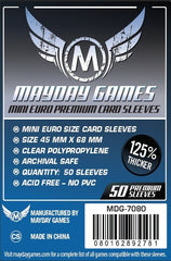 PREMIUM Mayday Mini Euro Card Sleeves: 45 x 68mm (set of 50) - Top Shelf Gamer